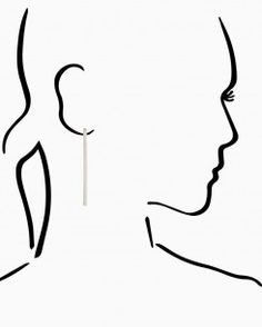 Vertical Bar Drop Earrings