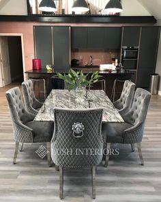 Bentley Knocker Back Chair (Grey/Black/Cream/Pink/Silver) | Lush Interiors