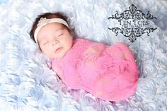 Hot Pink Stretchy Floral Lace Fabric Wrap - Newborn Baby Girl Cocoon Photography Prop - Ready to Ship. $10.00, via Etsy.