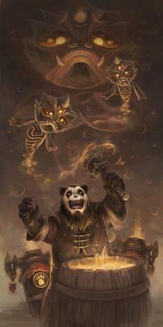 Brewing a brew by Nepharus on DeviantArt World Of Warcraft Game, Warcraft Art, Pandaren Monk, Blizzard Warcraft, Wow World, Science Fiction, Night Elf, Pathfinder Rpg, Wow Art