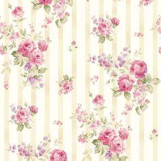 Ellie Ann - Papel de parede no rosa por Eleanor Burns, para Benartex Tecidos… Mais