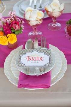 place setting for a brunch wedding