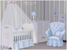 Bedroom for baby style 'Royal nursery'  Found in TSR Category 'Sims 4 Nursery sets'