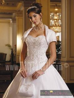 7aecb2b1d930 Marys Bridal Bridal Gown Style F07-5753 - Strapless, all-over gown with