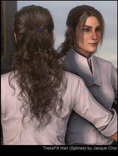 ArtStation - Deus Ex: Mankind Divided - Hair, Jacque Choi