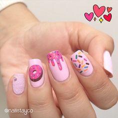 cute acrylic nails for kids ~ nails kids cute ` nails kids cute easy ` cute nails for kids ` kids nail designs cute ` kids nails cute simple ` nails for kids cute short ` cute acrylic nails for kids ` fake nails for kids cute Best Acrylic Nails, Acrylic Nail Art, Acrylic Nail Designs, Nail Polish Designs, Nails Inc, Diy Nails, Cute Nails, Simple Nail Art Designs, Easy Nail Art