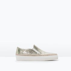 Image 1 of EMBOSSED LEATHER PLIMSOLL from Zara