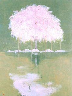 """Toshio MATSUO, né en 1926.   """" Le Vent se Lève """" 1991"""