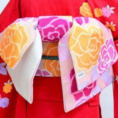 袋帯 正絹 西陣織 花文庫 作り帯 結び帯 新品(株)安田屋_画像1