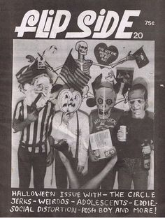 Flipside magazine cover.  <3