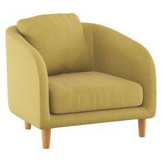COLBY Saffron yellow fabric armchair | Buy now at Habitat UK