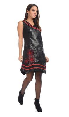 Robe TAINY noir/rouge