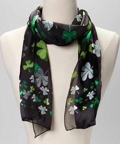Look what I found on #zulily! Green & Black Varied Shamrock Scarf by Buffalo Jewelry #zulilyfinds