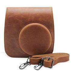 Andoer Artificial Leather Camera Case Bag Cover for Fuji Fujifilm Instax Mini8 Mini8s Single Shoulder Bag