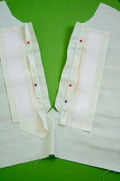 Sewing in a placket in top