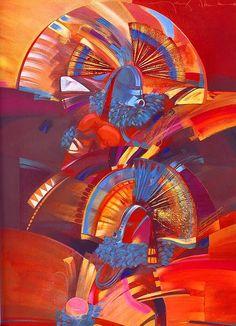 Tony Abeyta Kachina Painting - Canyon Song