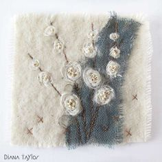 Winter Seeds embroidery by Velvet Moth Studio: