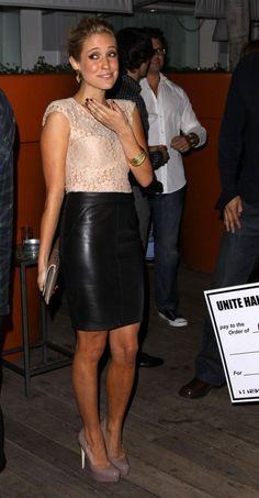 A longer length, like on Kristin Cavallari, keeps the look classic.