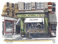 Peter Scully, Lina Stores, Brewer St, Soho