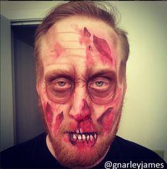 Zombie Boyfriend #facepaint #bodyart #makeupbymarley #zombie