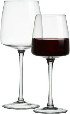 arc stemware   CB2....I have these and love them! Sturdy enough for everyday use, but cheap enough you won't feel guilty if one gets broken :)