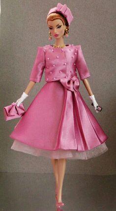 BArbie in pink Satin Dress
