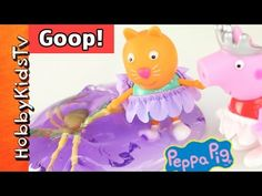 Peppa Pig Ballerina + GIANT SPIDER GOOP! Candy Cat Plays in Muddy Puddle...