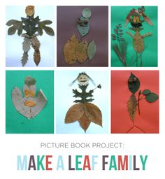 {Make a Leaf Family} Reading project to accompany Leaf Man by Lois Ehlert or any fall adventure