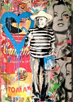 Mr Brainwash, a self-made world renounced graffiti artist, following in the footsteps of artists such as Shepard Fairey and Banksy. Brainwash's work is yet another successful addition to the world of propaganda type street art.