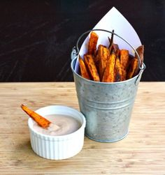 Spicy Sweet Potato Fries with Chipotle Adobo Dip by Cait's Plate