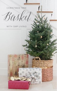 DIY Christmas Tree Basket: http://issuu.com/stylemepretty/docs/smp-holiday-magazine-2014 #SMPHolidays