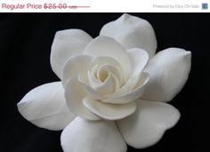 SALE 33 OFF Ivory Gardenia bridal hair flower Wedding by annapanik, $16.75