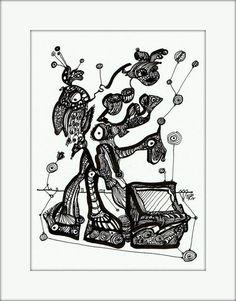 HäkelBild VI von Etelka Kovacs-Koller - mad for art auf DaWanda.com Illustration, Artworks, Mad, Etsy, Drawing S, Illustrations, Art Pieces