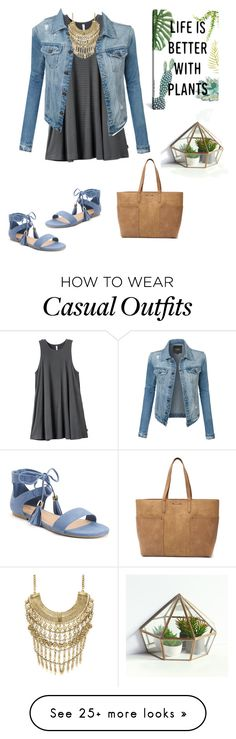 """Casual look"" by laylayanahi on Polyvore featuring RVCA, LE3NO, Marabelle, Candie's, Tony Bianco and iCanvas"