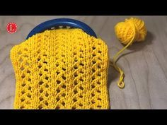 Loom Knit the Zig-Zag Eyelet Lace Stitch - Easy to follow Step by Step video tutorial. The pattern is easy enough for an advanced beginner.