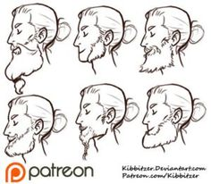 Beards reference sheet by Kibbitzer on @DeviantArt