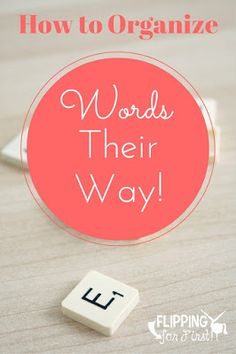 Flipping for First: Organizing Words Their Way!- amazing post on how she runs WTW!