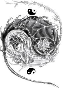 yin yang tattoo designs with dragons - Bing Images