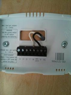 Connexion du thermostat