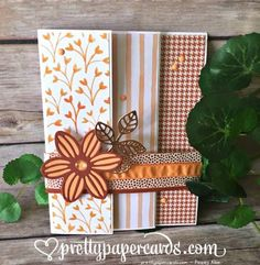 Triple Fold card by Peggy Noe