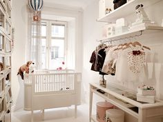 All white #nursery. Beautiful.