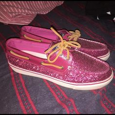 Pink Sperrys worn once, good condition! Sperry Top-Sider Shoes Flats & Loafers