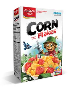 Golden Foods Corn Flakes Cereal packaging