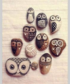 Rock art - love these ideas