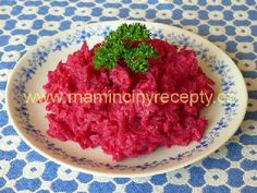 Salát (pomazánka) z červené řepy Grains, Rice, Food, Essen, Meals, Seeds, Yemek, Laughter, Jim Rice