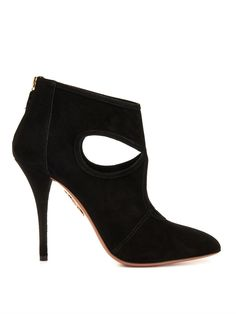 Aquazzura Sexy Thing suede ankle boots