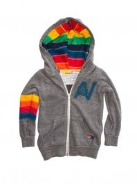 91ce3ed62d520 Boy s Grey Signature Zip Up Hoodie by Aviator Nation