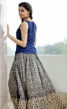 #printstories #flowy #skirt #summerprints
