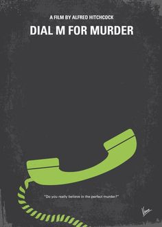 Dial M for Murder, minimal movie poster