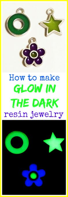 Resin Obsession blog: Glow in the dark resin pendants tutorial